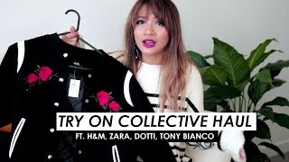 TRY ON COLLECTIVE HAUL | H&M, Zara, Dotti, Tony Bianco