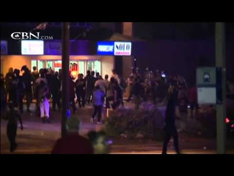 Violence in Ferguson on Brown Shooting Anniversary