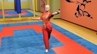 Боевая гимнастика. Ушу. Махи ногой. Часть 1