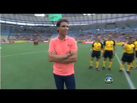 Rafael Nadal visits Maracana Stadium in Rio de Janeiro  Brazil