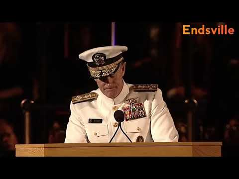 This speech by Navy Seal Commander is amazing