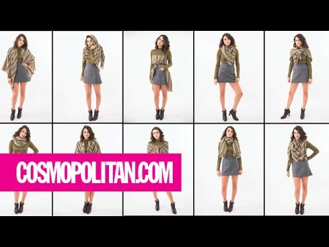e72c006210c5f 12 Ways to Wear a Blanket Scarf | Cosmopolitan - YouTube