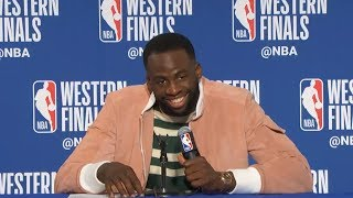 Draymond Green postgame interview / GS Warriors vs Rockets Game 3
