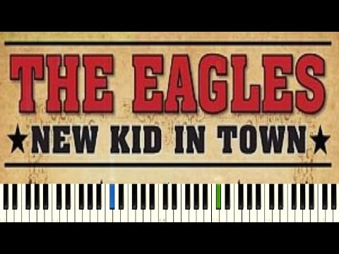 Eagles - New Kid In Town [Piano Online Tutorial] Easy Version