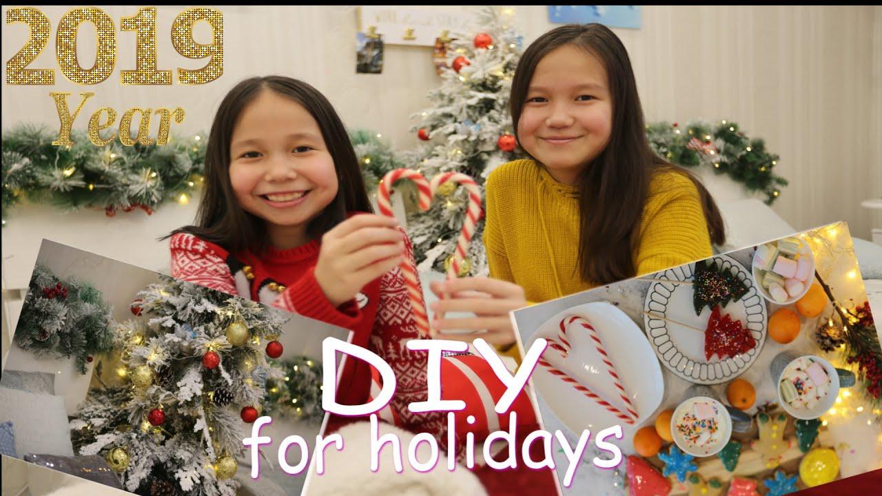 Новогоднее настроение: Декор комнаты, DIY, имбирное печенье, горячий шоколад / Lingua Sisters