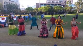Indian Dance at Petco Park (baseball stadium) San Diego - Aug 19 2013