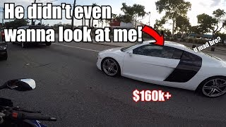 AUDI R8 vs GSX-R 600 | SALTY He Was DESTROYED