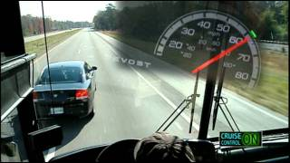 Driving with Prevost® Aware™ Adaptive Cruise Braking by Bendix®