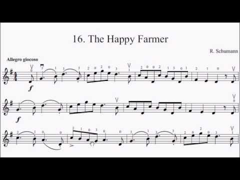 Suzuki Violin Book 1 No.16 Schumann Happy Farmer Sheet Music