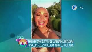 Thalia invade sus redes sociales con videos de su día a día