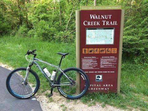 Mountain Biking - Newly Opened Walnut Creek Trail, Raleigh North Carolina -- May 3, 2014