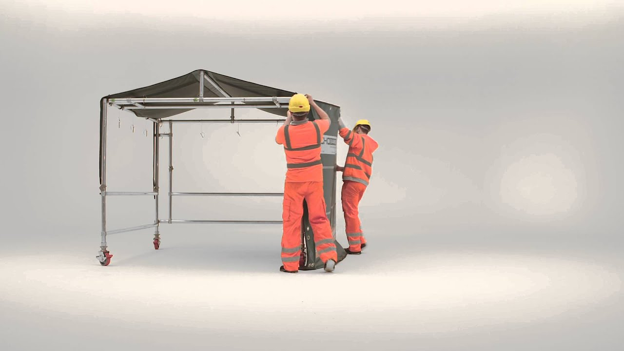 Echo Barrier Acoustic Tent Installation Double Door Front HD & Echo Barrier Acoustic Tent Installation Double Door Front HD - YouTube