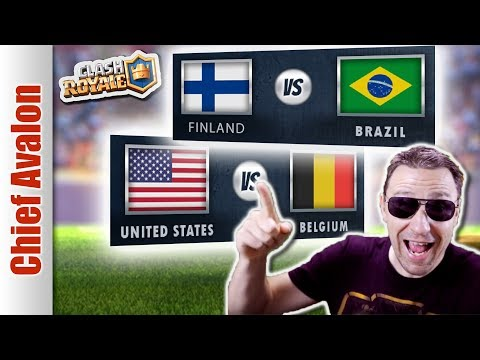 MGL WORLDS: FINLAND vs BRAZIL | UNITED STATES (USA) vs BELGIUM! - Clash Royale eSports