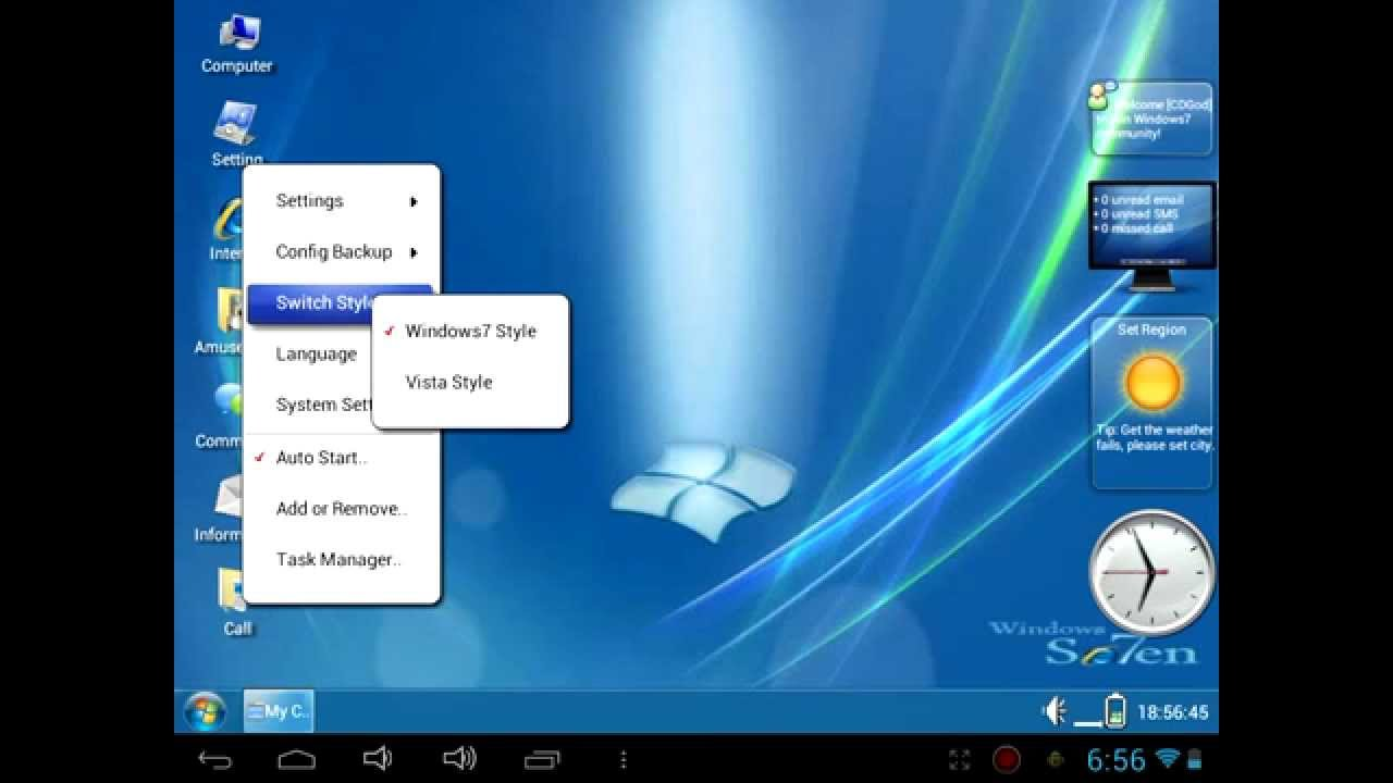 Windows 7 for Android (HD)