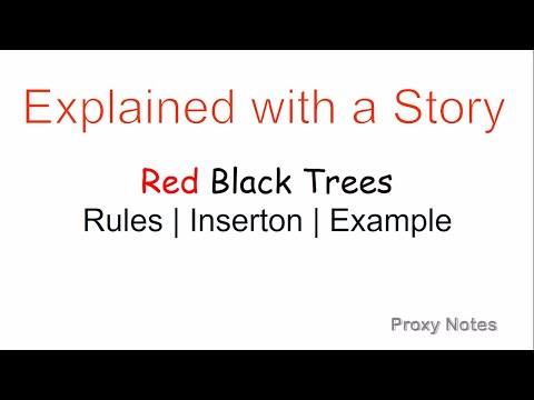 Red Black Tree in Hindi | Rules | Insertion | Example - Explained with a Story