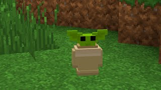 So Baby Yoda is in Minecraft now...