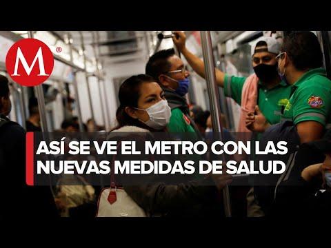 Usuarios del metro no respetan protocolo de sana distancia en CdMx