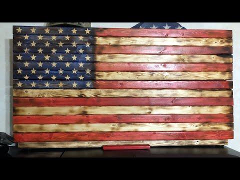 Rustic Glory Flags   Gun Cabinet Review