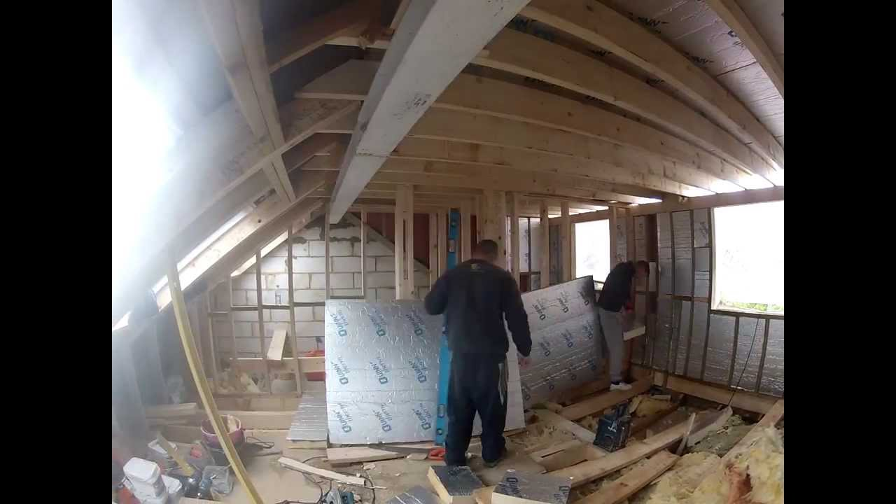 Loft Conversion Insulating The Dormer Youtube