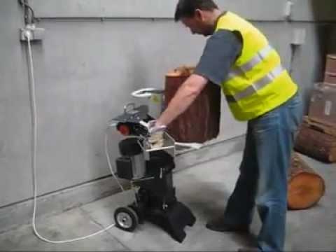 jardin-bricolage - video fendeuse de bûches 6t verticale