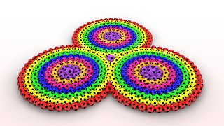 Learn Colors with Spiral Flower for Kids and Children
