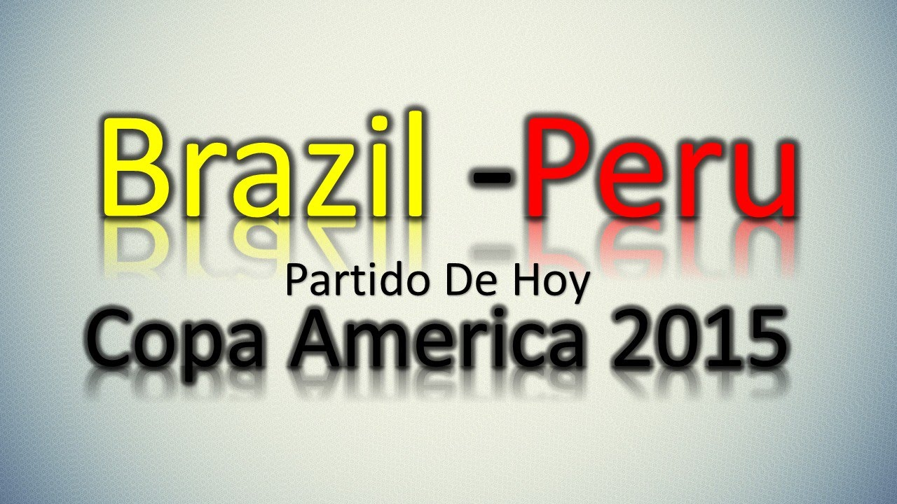 Brazil -Peru | Partidos De Hoy | Copa America 2015 | 14/06/2015 ...