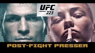 UFC 223 Post-Fight Press Conference: Khabib Nurmagomedov vs. Al Iaquinta