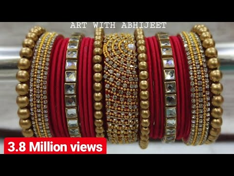 NEW  SILK THREAD BRIDAL PUNJABI CHURA  BANGLES | ART WITH ABHIJEET| JEWELLERY MAKING AT HOME