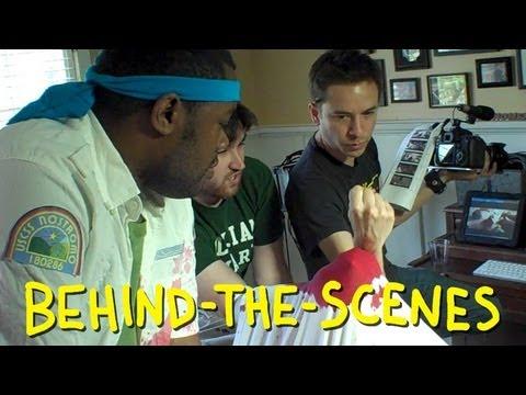 Alien - Chestburster Scene - Homemade with BlackNerdComedy (behind the scenes)