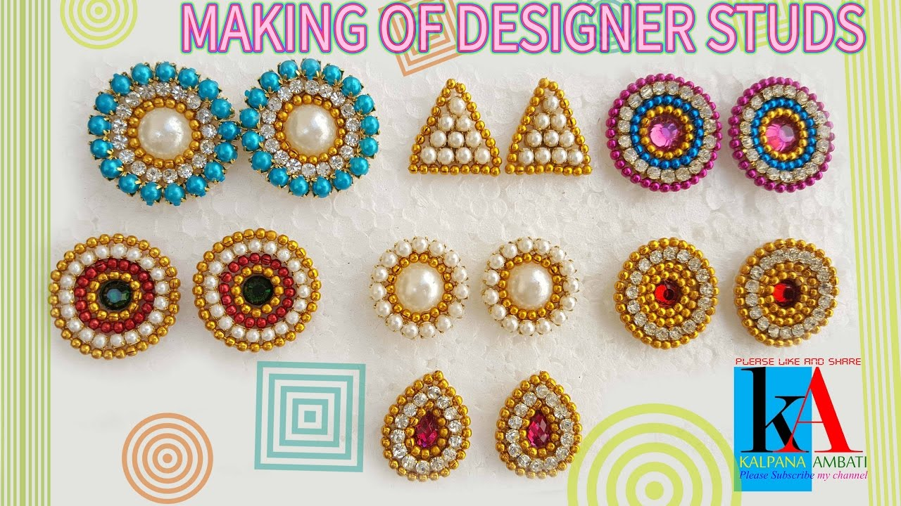 b9ba882a6 How to make Earring Studs / Patches at Home | DIY | Tutorials ...