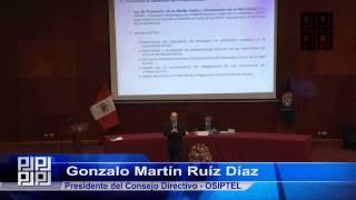 20 - VISIÓN PANORÁMICA DEL SECTOR TELECOMUNICACIONES - DR. GONZALO RUIZ DÍAZ - OSIPTEL