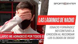Nacho Fernández, en su despedida de #River, se quebró al recordar a #Maradona