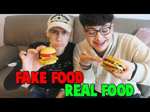 REAL FOOD VS FAKE FOOD CHALLENGE!