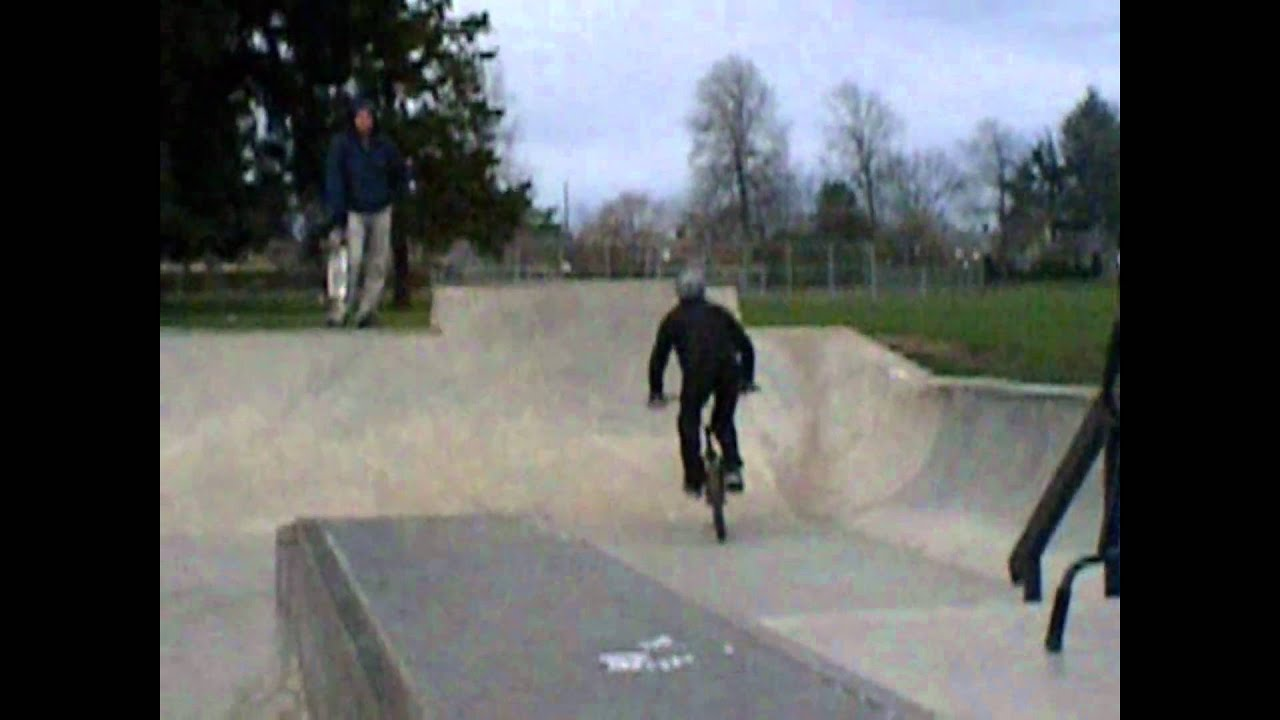 Old man riding BMX