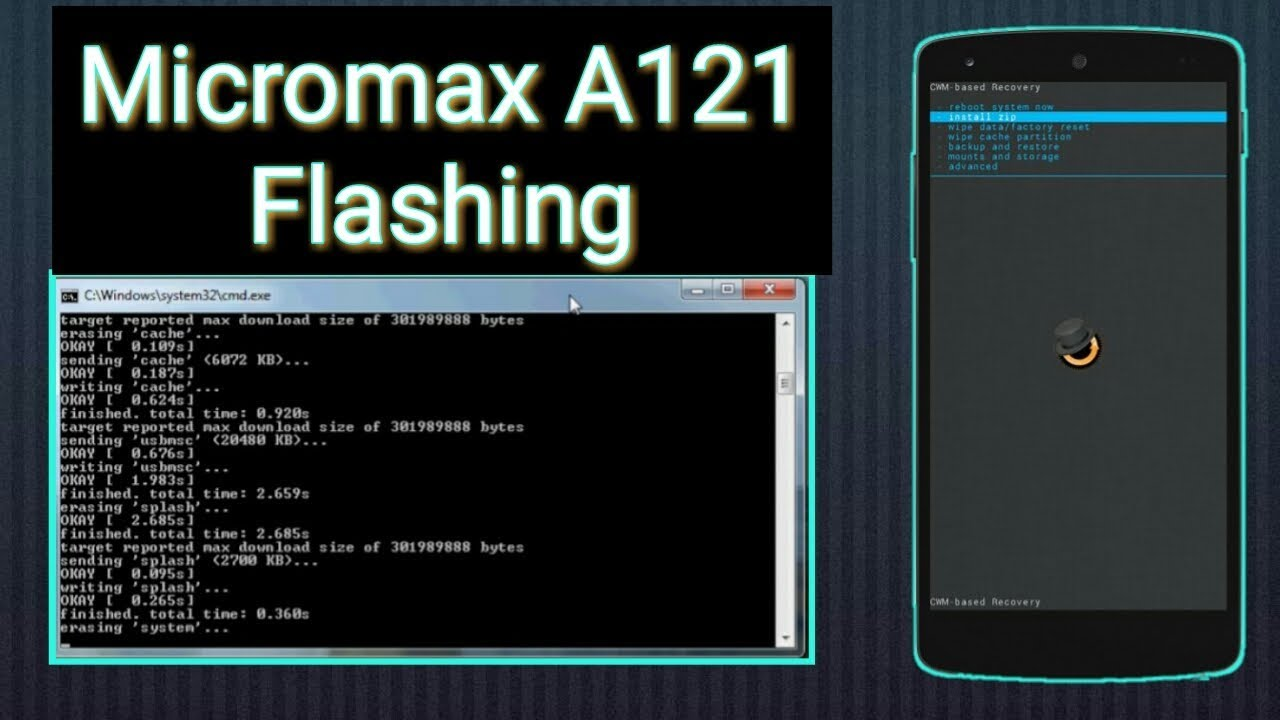 micromax a121 flashing ,step by step by H&F