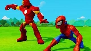 Supereroi Spider-Man e Iron Man gioco per bambini