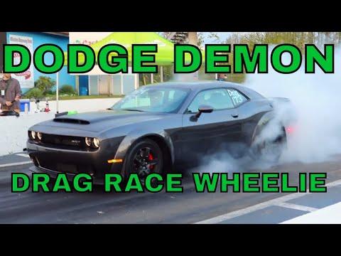 DODGE DEMON WHEELIE FIRST DRAG RACE IN CANADA