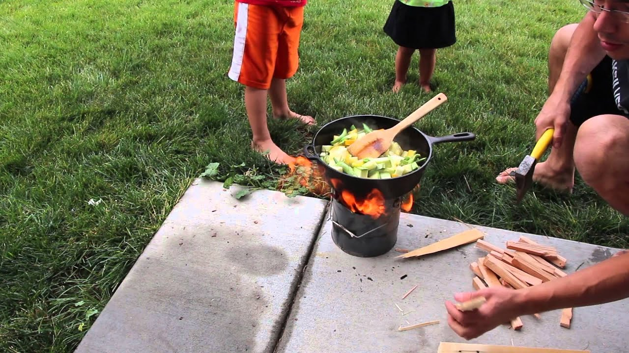 Using Paint Can For Rocket Stove