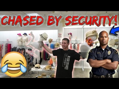 STEALING MANNEQUINS CHASED BY SECURITY! (GIVEAWAY)