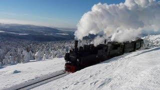 Traumhafte Impressionen von der winterlichen Brockenbahn | steam trains in winter