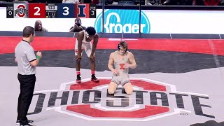 133 LBS: #8 Travis Piotrowski (Illinois) vs. Jordan Decatur (Ohio State) | 2020 B1G Wrestling