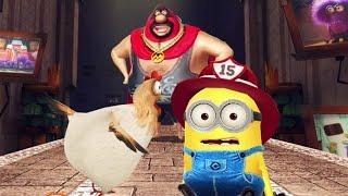 Despicable Me Minion Rush Firefighter Minion vs Pollo Locos Boss Fight