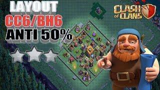 O Melhor Layout para a base do construtor cc6/bh6 ant 50% clash of clans