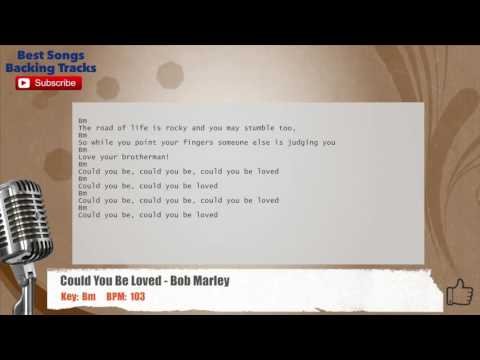 Could You Be Loved Bob Marley Vocal Backing Track With Chords And