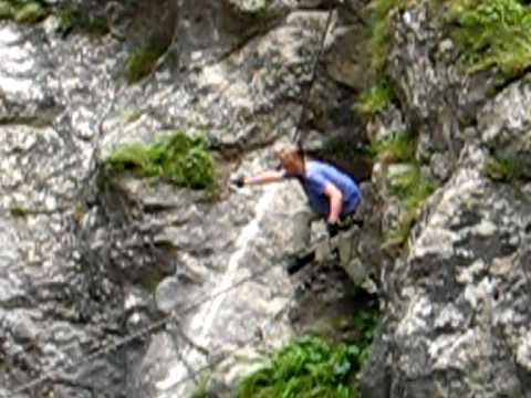 Klettersteig Oostenrijk : Oostenrijk klettersteig galitzenklamm youtube