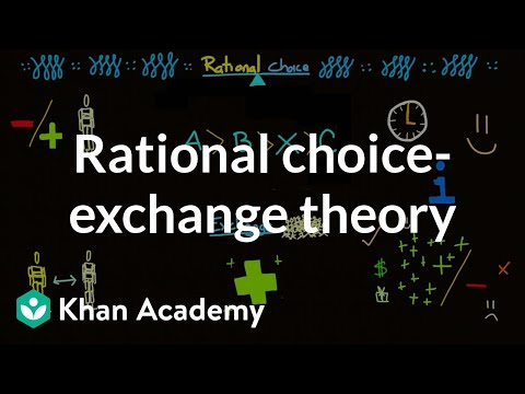 Rational choice-exchange theory | Society and Culture | MCAT | Khan Academy