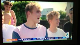 JAKE PAUL ON CHANNEL 5 NEWS (insane stunt) Jake Paul Sued!?!