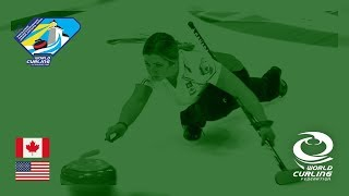 Canada v United States - Womens Round-robin - World Junior Curling Championships 2019