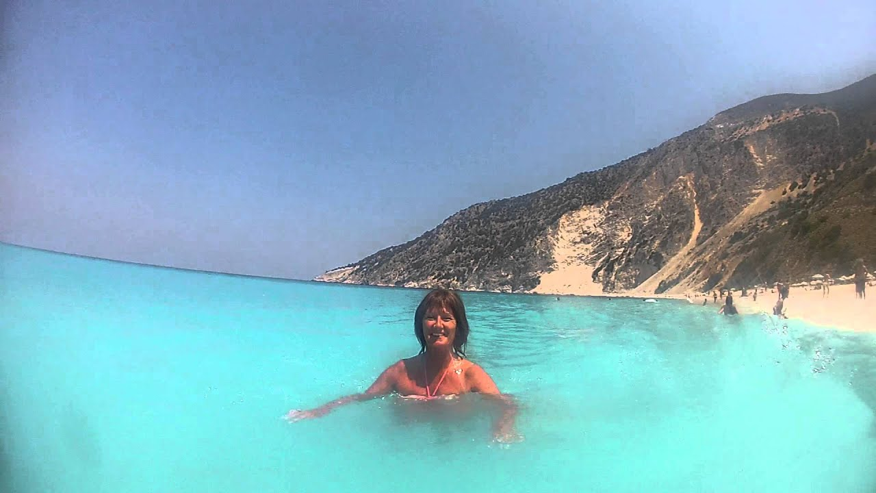 Swimming At Myrtos Beach Kefalonia July 2017