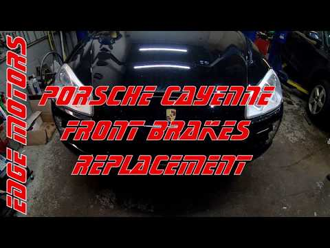 Porsche Caenne Front Brakes Pads and Rotors Replacement DIY by Edge Motors